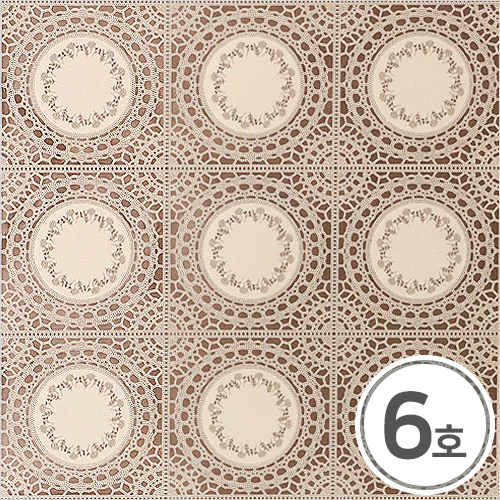 데코매트 6호*꽃 레이스 68.5x33.5cm O-11-316