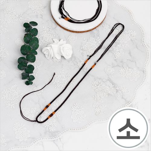 매듭목걸이줄*소*33cm(10개입) WX-10-129