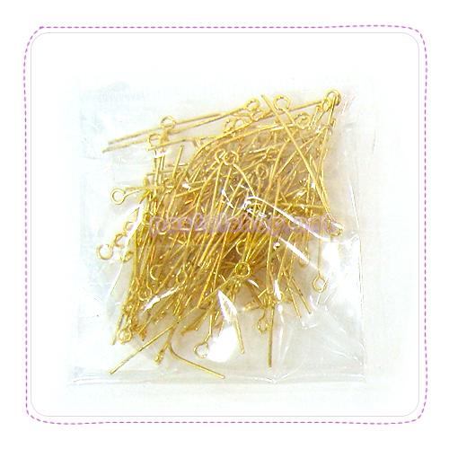 9자핀(3*35mm)100개입★금색 E-05-215
