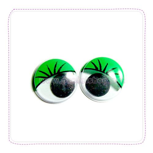 장식눈알(1.5cm 20개입)초록 G-07-216
