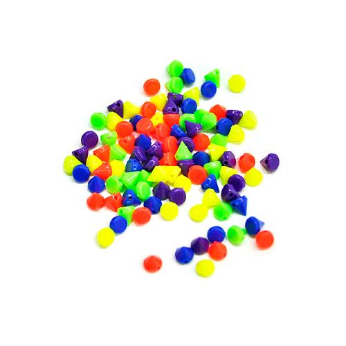 바느질용*인형코*6mm*100개입*색상혼합 G-06-109