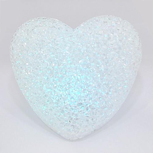 LED 크리스탈 *하트볼* 11cm (색상변함)*T-11-203