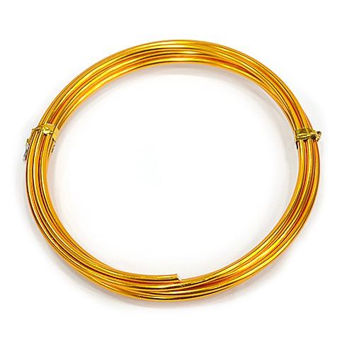 칼라 알루미늄 철사 2.5MM *금색*(2M입) F-07-120