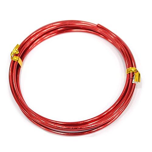 칼라 알루미늄 철사 2.5MM *빨강*(2M입) F-07-117