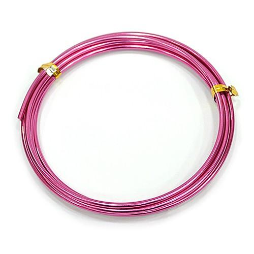 칼라 알루미늄 철사 2.5MM *핑크*(2M입) F-07-113