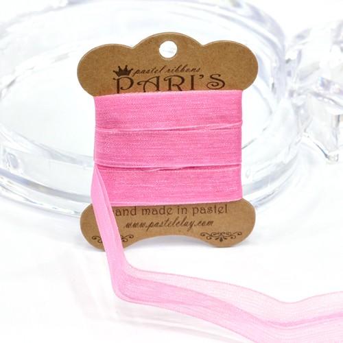 10-56*쉬폰리본*핑크*길이3m(2-Y) V-01-138