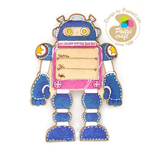 팬시소품*M-176 *네임텍* 로봇 8.5*11.5cm *Y-03-172