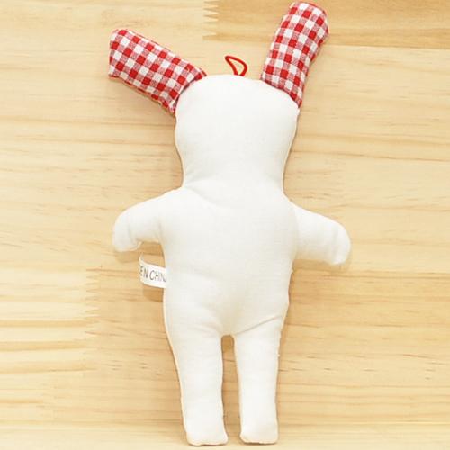토끼인형 *빨강체크* 13*23cm *V-09-101