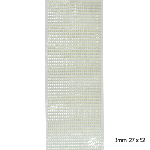 스티커 반구크리스탈 *화이트진주* 3mm(27X52) C-10-01