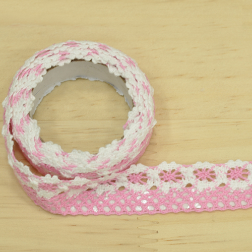 패브릭접착식 리본테이프 *핑크*2CM (약1M입) N-07-301