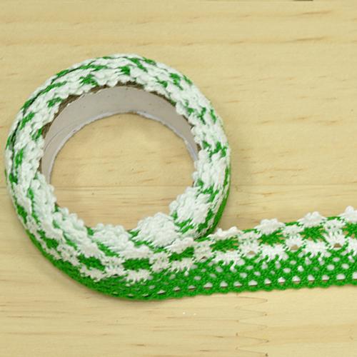 패브릭접착식 리본테이프 *초록*2CM (약1M입) N-07-308