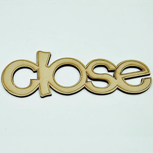 우드글씨*영어*EL-002*close*10개입 Z-03-106