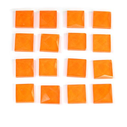 TL-025사각 타일비즈 1*1CM *형광주황* (약100개입) *U-01-102