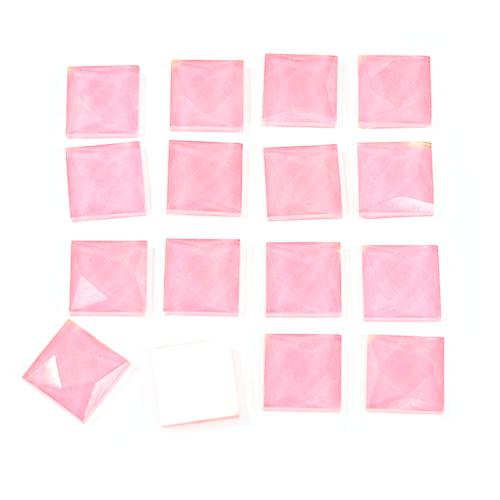 TL-028사각 타일비즈 1*1CM *핑크* (약100개입) *U-01-105
