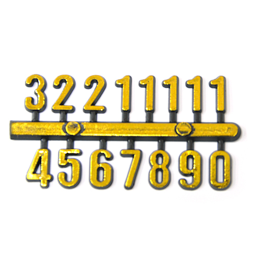 아라비아숫자*소*C형*금색+검정*1*1.2cm(5개입) I-11-109