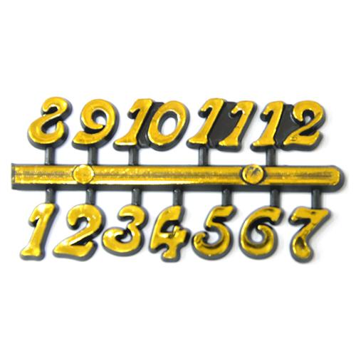 아라비아숫자*소*A형*검정+금색1*1.5cm*5개입 I-11-110