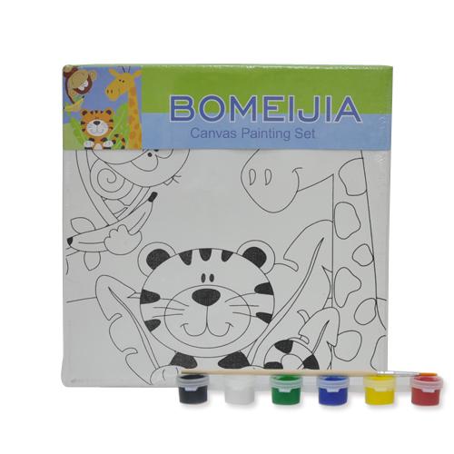 색칠 캔버스화*동물원+붓*6색물감(20*20cm) P-01-209