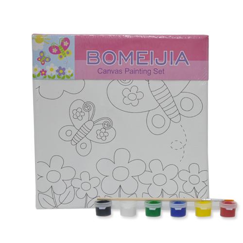 색칠 캔버스화*나비+붓*6색물감(20*20cm) P-01-202