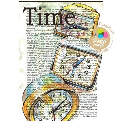 (냅스) 317    수제냅킨 빈티지 Time(A4)