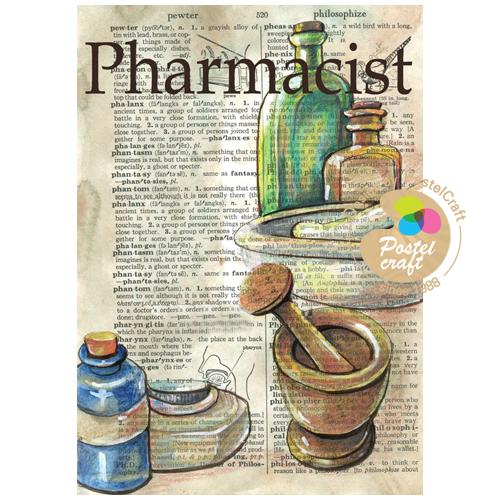 (냅스) 318    수제냅킨 빈티지 Pharmacist(A4)