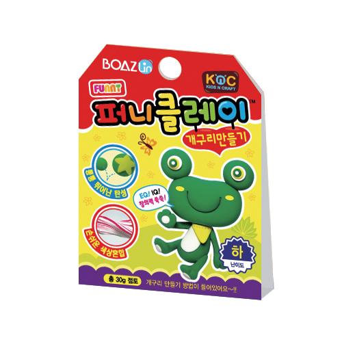 퍼니클레이)개구리만들기 클레이7.5g K-02-112