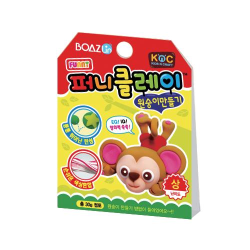 퍼니클레이)원숭이만들기 클레이7.5g K-02-113