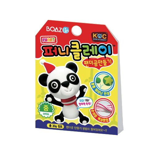 퍼니클레이)팬더곰만들기 클레이7.5g K-02-104