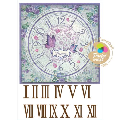 323   수제냅킨 나비꽃사각시계20cm(사이즈21*30cm)