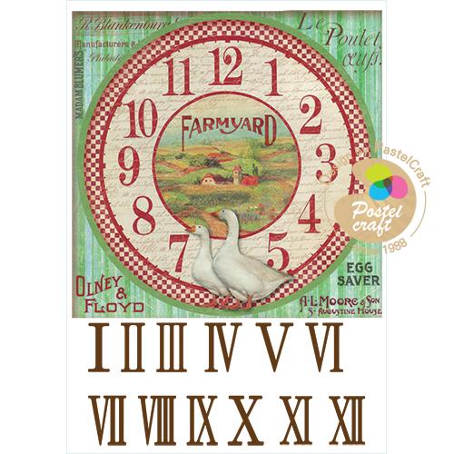 329   수제냅킨 농장사각시계20cm(사이즈21*30cm)