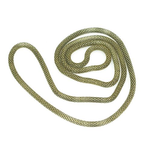 라운드체인 목걸이줄*황동*(5개입) 70cm B-06-147