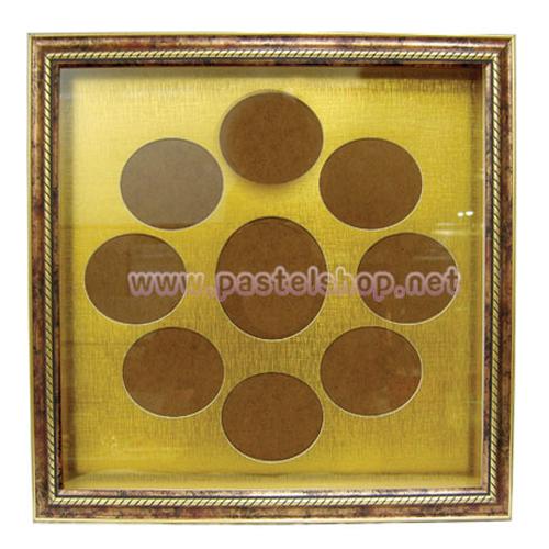 (1-B-1)탈 시계액자(1.0고리형무브, 7.5시계바늘, 숫자금색 소) 2개입