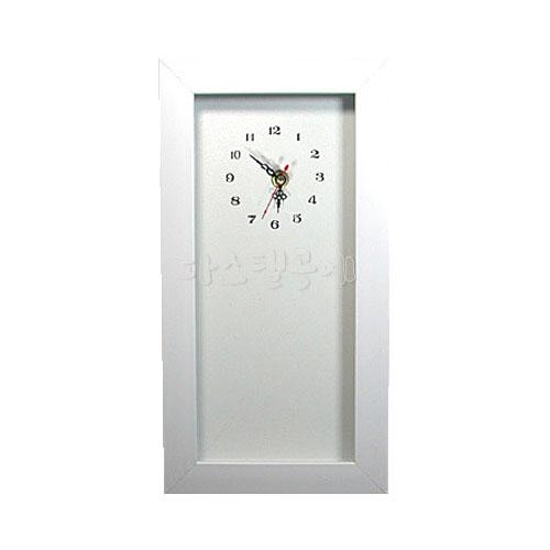 113백색 시계액자14*29 공간2cm*시계무브포함(전체크기17.5*32cm) L-01-102