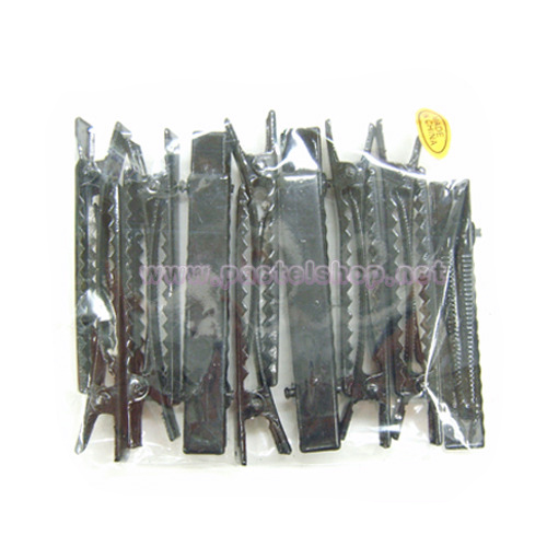 머리집게핀(대) 검정*10개입 길이 8cm*폭9mm A-08-108