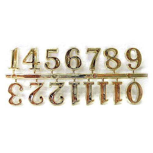 아라비아숫자*금색*중*1.5cm*5개입 I-10-01