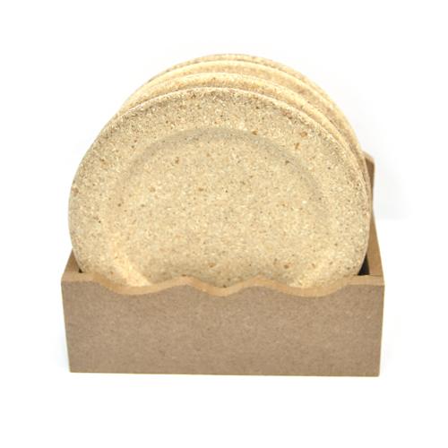 (냅스) 오목 원형 컵받침(4개입)*받침세트 12.5x7.5cm U-11-101