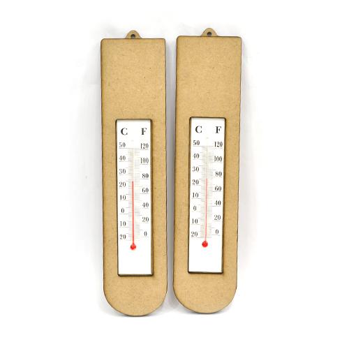 MDF 아치형온도계 4.5*20cm (2개입) S-03-107