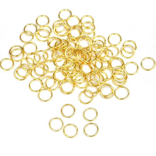 단면 오링*1cm*금색*(100개입) E-04-204