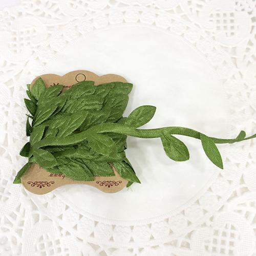 잎사귀 줄장식*초록* 2.5cm(3m입)  C-06-110