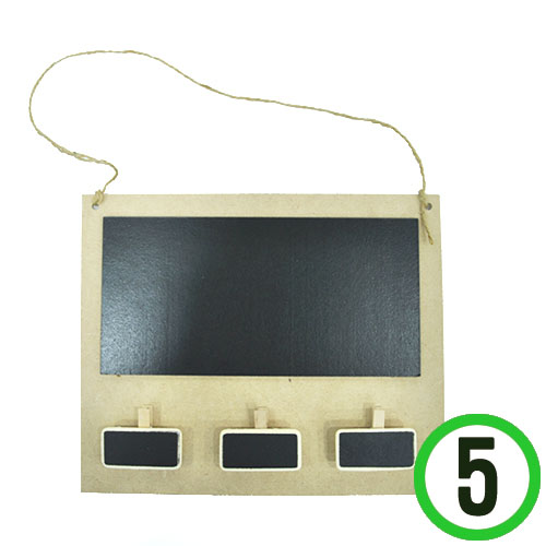 MDF 칠판&메모판 23x19cm (5개입) M-03-204