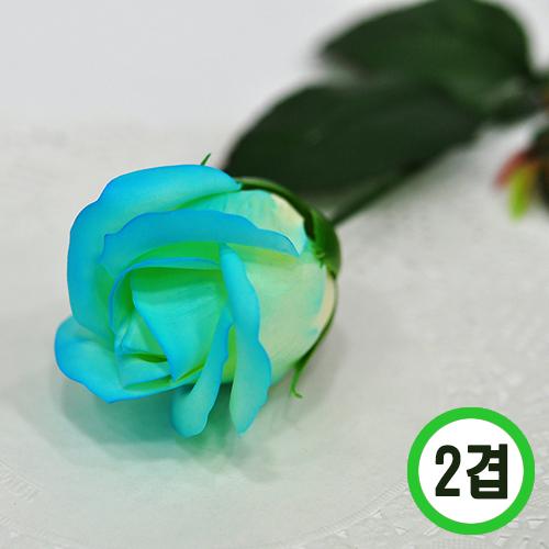 비누장미 *블루그라데이션*6x6cm 2겹비누 (50개입)   꽃대 미포함   F-11-101