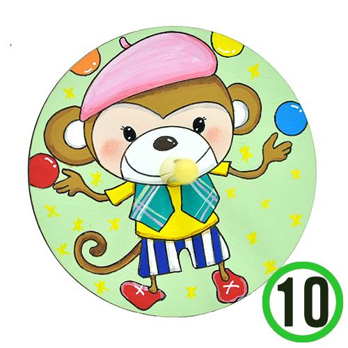 팬시소품 팽이3호*원숭이*8 cm (10개입)   X-02-02