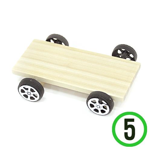 나무자동차*1호*밑판*9x6cm(5set)*T-05-101