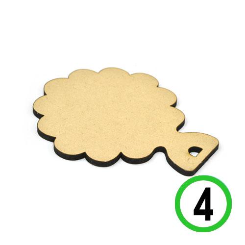 (냅스) MDF*5mm벽걸이컵받침(4개입) 11*14CM *O-06-207