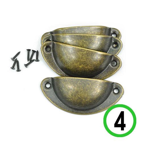 경대손잡이*반달형*청동색(4개입+나사8개)8x3.5cm*T-08-201