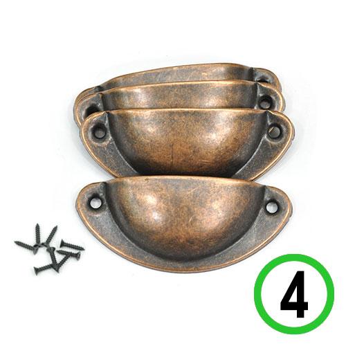 경대손잡이*반달형*황동색(4개입+나사8개)8x3.5cm*T-08-202