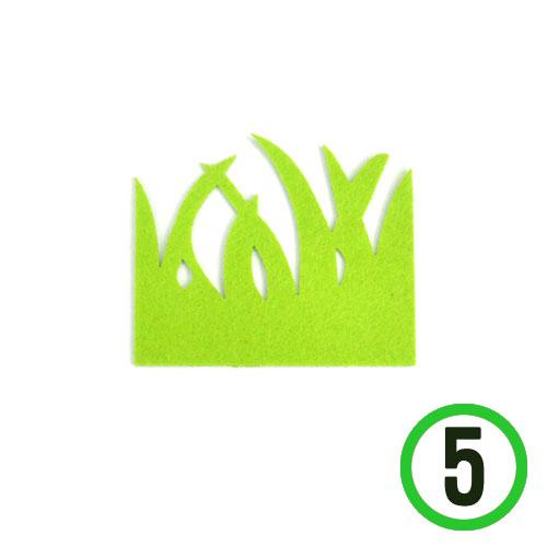 부직포풀잎 소 *연두*9x7cm(5개입)*T-05-108