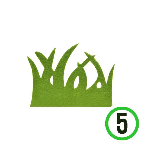 부직포풀잎 소 *카키*9x7cm(5개입)*T-05-109