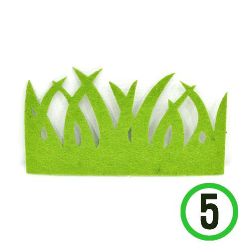부직포풀잎 대 *카키*12.5x7cm(5개입) *T-07-302
