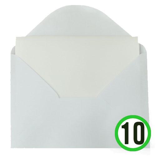카드 *하양*B형 (10개세트) 13*18CM*T-09-207