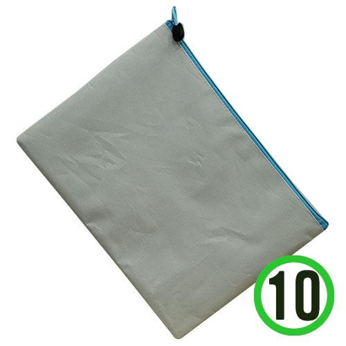 (냅스) A4서류가방*하늘*지퍼+하양*33x24cm(10개입) K-08-102
